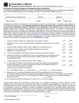 CA 4-H Adult New Application Form - 4