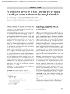 Relationship between clinical probability of carpal tunnel