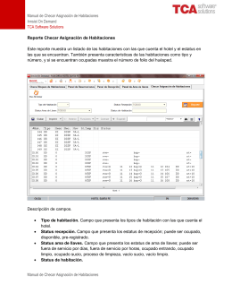 Manual de Checar Asignación de Habitaciones Innsist On Demand
