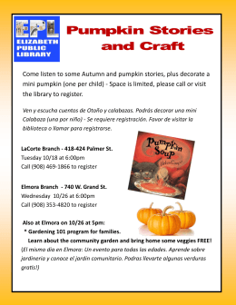 Come listen to some Autumn and pumpkin stories, plus decorate a