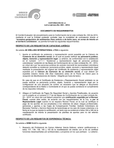 LISTA LIMITADA NO. 003 – 2014 1 DOCUMENTO DE