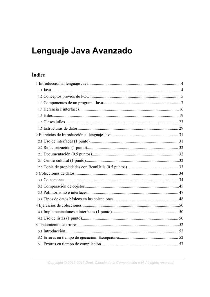 Lenguaje Java Avanzado