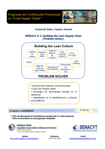 Building the Lean Culture PROBLEM SOLVER