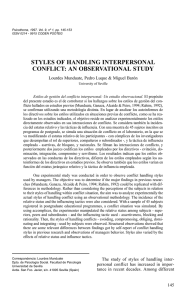styles of handling interpersonal conflict: an