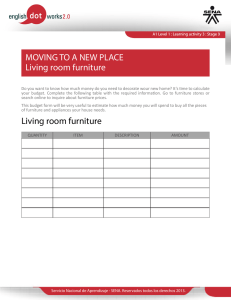 MOVING TO A NEW PLACE Living room furniture Living room furniture