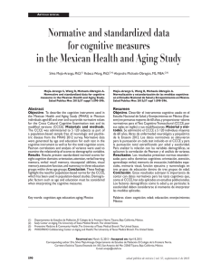 Normative and standardized data for cognitive measures in the