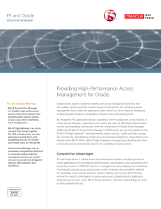 Providing High-Performance Access Management for Oracle