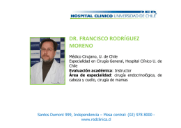 Dr. Francisco Rodríguez Moreno - Hospital Clínico Universidad de