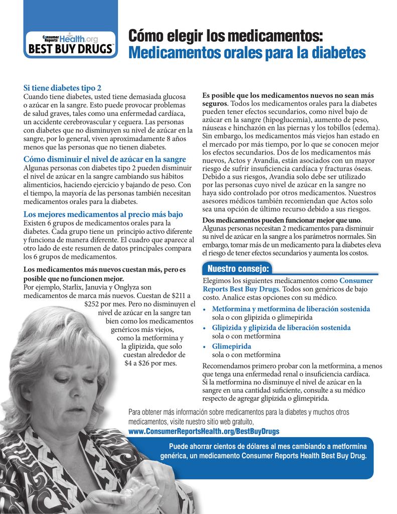 medicamentos orales para la diabetes tipo 2