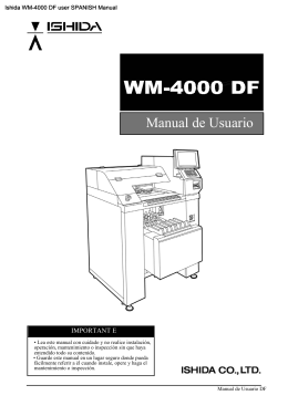 Ishida WM-4000 DF user SPANISH Manual - THE-CHECKOUT-TECH