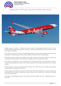 AirAsia Jet`s Tail Found, Two More Bodies Recovered