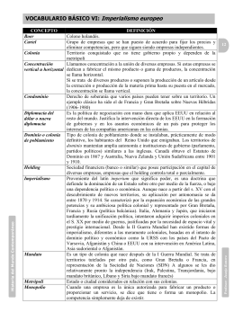 Vocabulario basico_06 Imperialismo europeo