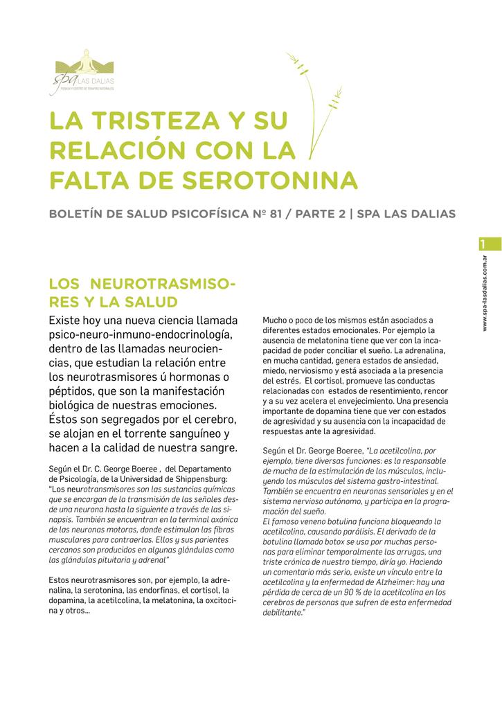 Relacion serotonina y melatonina
