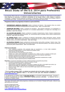 Becas Study of the U.S. 2014 para Profesores Universitarios