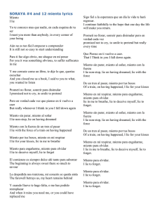Lyrics for Soraya Miento