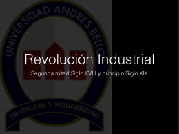 Revolución Industrial - Marketing UNAB PROFESOR