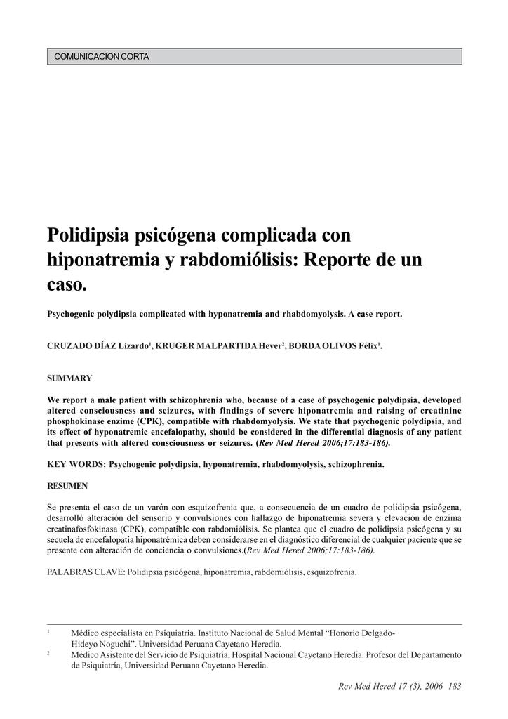 diabetes de polidipsia psicógena