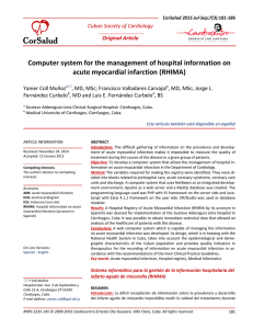 Computer system for the management of hospital information on