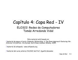 Capítulo 4: Capa Red