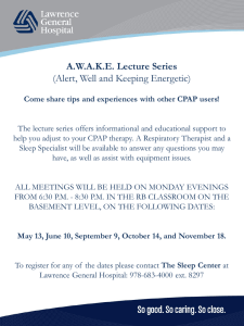 A.W.A.K.E. Lecture Series (Alert, Well and Keeping Energetic)