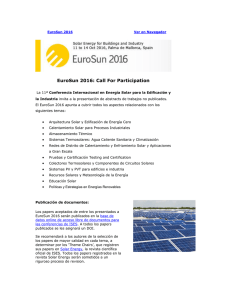 EuroSun 2016: Call For Participation