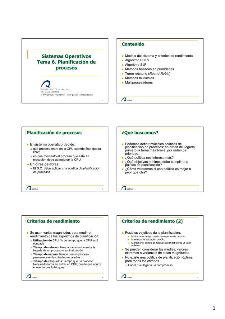 so-06-Planificacion de procesos - La web de Sistemas Operativos