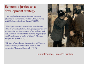 Economic justice as a development strategy p gy