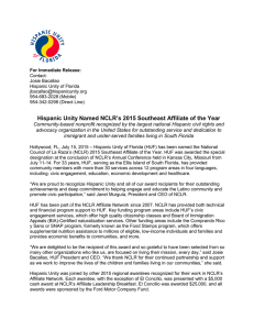 Hispanic Unity Named NCLR`s 2015 Southeast Affiliate of the Year