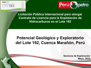 Geological and Exploratory Potencial of the Block 192