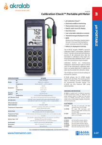 Page 1 Portable pH/mV Meters • TWO