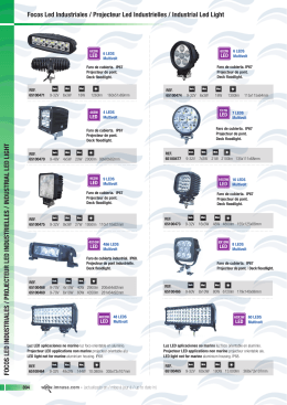 FOCOS LED INDUSTRIALES / PROJECTEUR LED