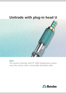Unitrode with plug-in head U