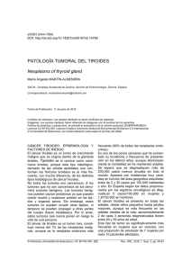 Patología tumoral del tiroides = Neoplasms of thyroid gland