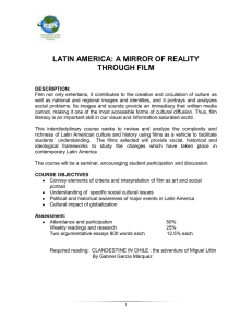 latin america: a mirror of reality through film