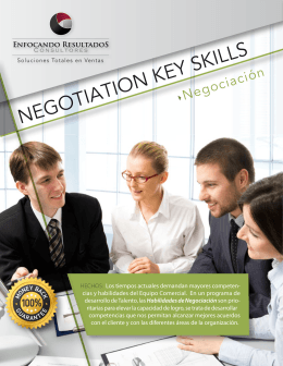 Negotiation Skills - Enfocando Resultados