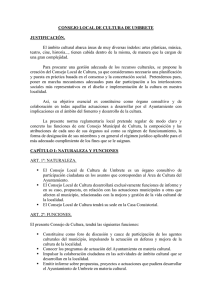 CONSEJO LOCAL DE CULTURA DE UMBRETE JUSTIFICACIÓN
