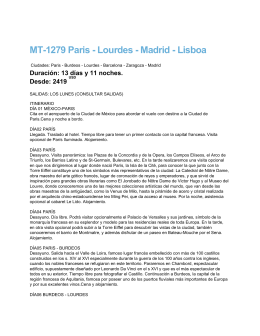 MT-1279 Paris - Lourdes - Madrid - Lisboa