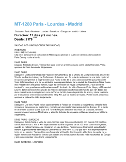 MT-1280 Paris - Lourdes - Madrid