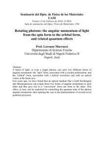 Rotating photons: the angular momentum of light from the spin form
