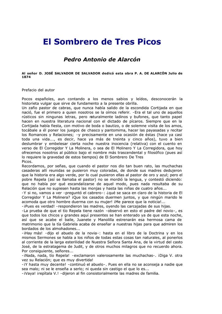El Sombrero de Tres Picos - La página del profesor de Lengua y