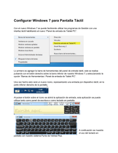 Configurar Windows 7 para Pantalla Táctil