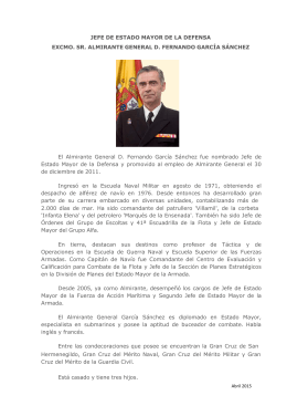Biografía - Estado Mayor de la Defensa