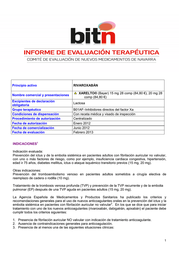 Orales contraindicaciones anticoagulantes