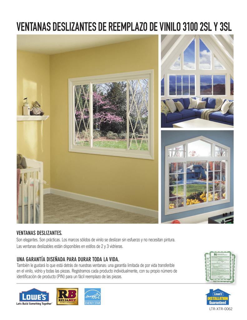 ventanas deslizantes de reemplazo de vinilo 3100 2sl y 3sl