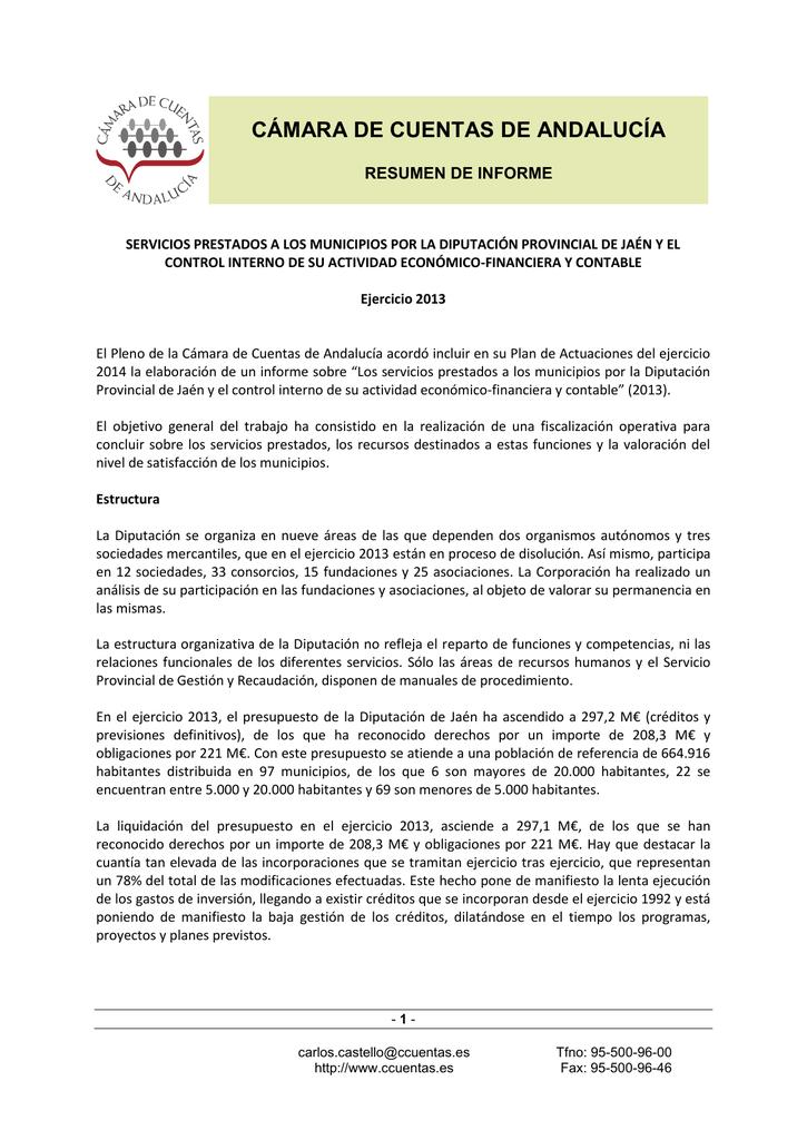 Resumen Cámara De Cuentas De Andalucía