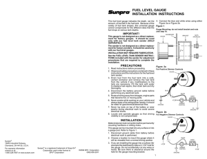FUEL LEVEL GAUGE INSTALLATION INSTRUCTIONS
