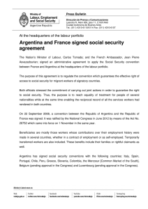 Argentina and France signed social security agreement