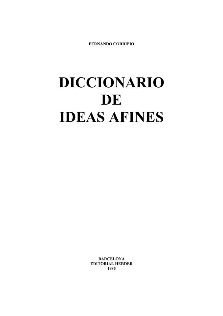 ee7e607d4aaf Diccionario de ideas afines - Curso de Escritura Argumentativa
