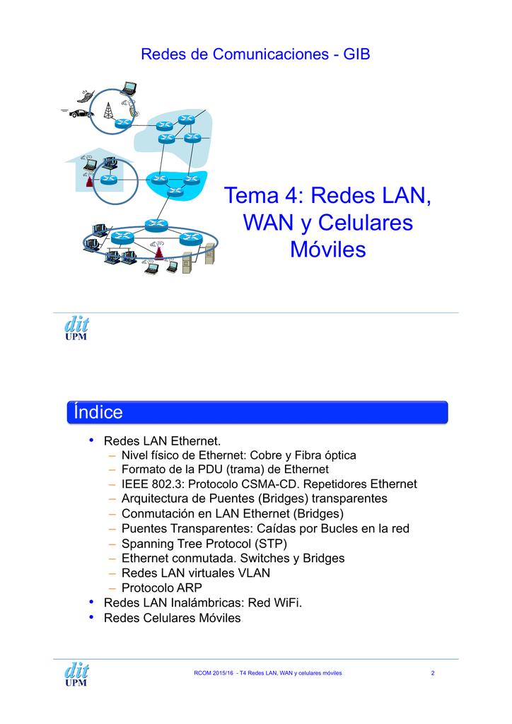 RCOM t4- Redes LAN, WAN y redes celulares.pptx
