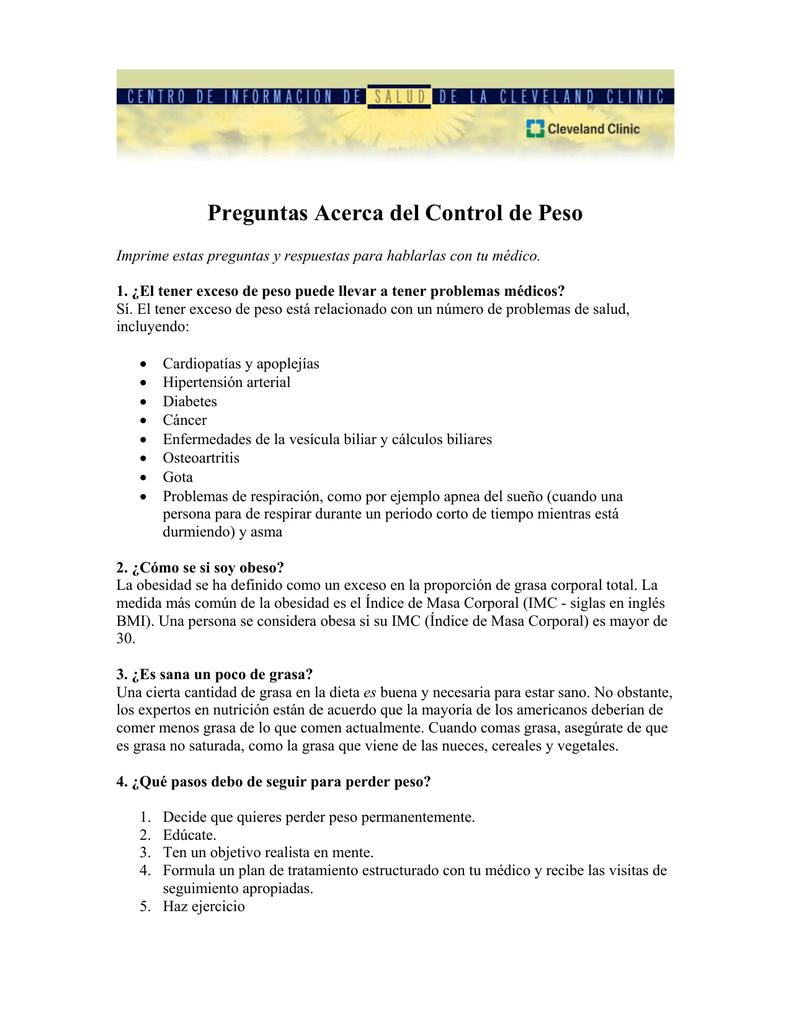 Objetivos generales para bajar de peso